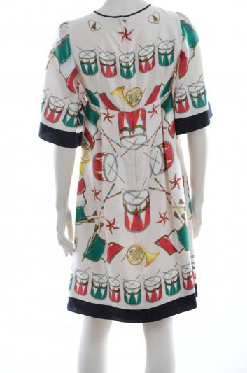 Dolce & Gabbana Vestido Medio Tambores Mujer - F64V2T GDF60