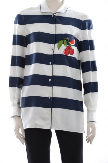 Dolce & Gabbana Cherries Women Shirt - F5G56Z GDD83