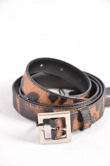 Dolce & Gabbana Cinturón Estampado Leopardo Mujer - BE0795 B7158