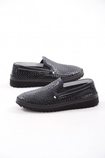Dolce & Gabbana Men Leather Slippers - A50078 AB593
