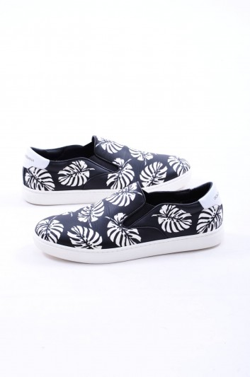 Dolce & Gabbana Palm Leaf Men Sneakers - CS1365 AE900