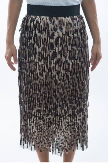 Dolce & Gabbana Falda Media Estampado Leopardo Mujer - F4AZRT FPSCH