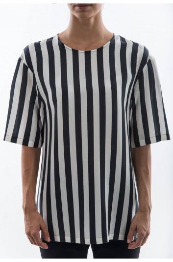 Dolce & Gabbana Camiseta Manga Corta Seda Mujer - F7P02T G7CTR