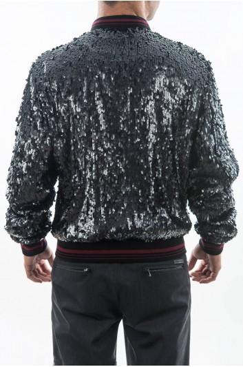 Dolce & Gabbana Sequined Men Jacket With Sequins - G9LB6Z FMMBP
