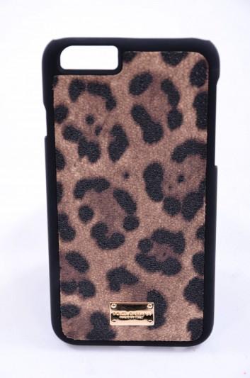 Dolce & Gabbana Funda Iphone 6/6S Estampado Leopardo Mujer - BI2123 A7158