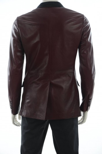 Dolce & Gabbana Men Leather Blazer - G2ML8L HULAW