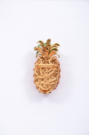 Dolce & Gabbana Women Pineapple Brooch - WPJ2F2 W0001