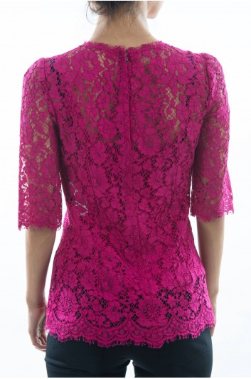 Dolce & Gabbana Women Lace Top - F7U32T HLMHW
