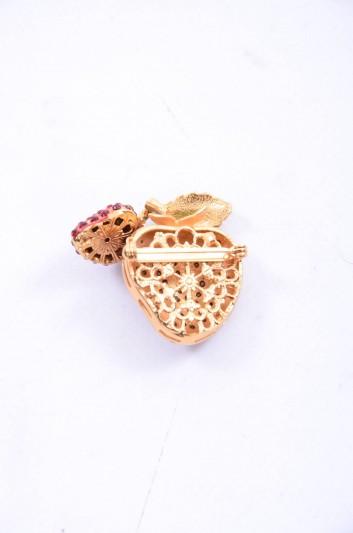 Dolce & Gabbana Women Jewel Strawberry Brooch - WPJ2F1 W0001