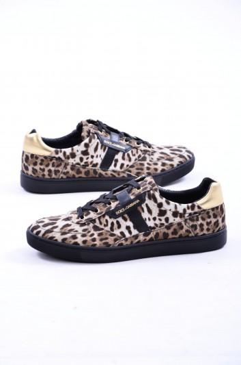 Dolce & Gabbana Men Print Animal Sneakers - CS1477 AG400