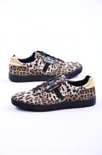 Dolce & Gabbana Sneakers Leopardo Hombre - CS1477 AG400