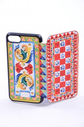 Dolce & Gabbana Women Iphone 7/8 Sicilian Print Plate Case - BI2239 AC597