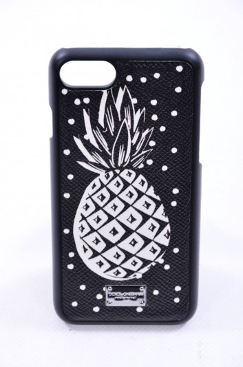 Dolce & Gabbana Funda Iphone 7/8 Placa Estampado Piña Hombre - BP2235 AB669