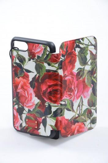 Dolce & Gabbana Funda Iphone 7/8 Placa Estampado Rosas Mujer - BI2239 AI228