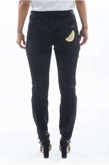 Dolce & Gabbana Women Denim Lemon Trousers - FTAQWZ G883D