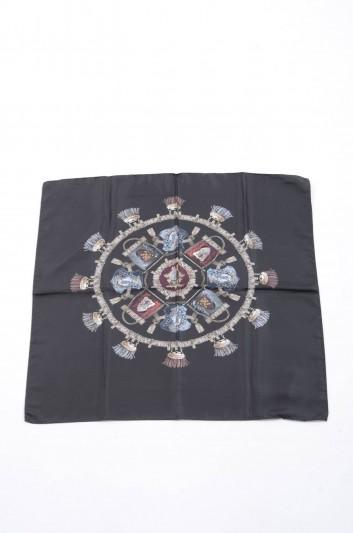 Dolce & Gabbana Pañuelo Estampado Escudos Pequeños Mujer - IF634W G9003