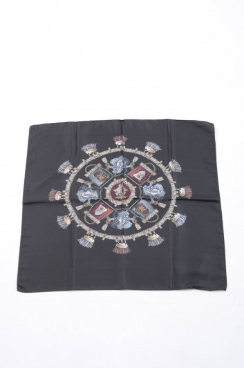 Dolce & Gabbana Women Mini Shields Print Foulard - IF634W G9003