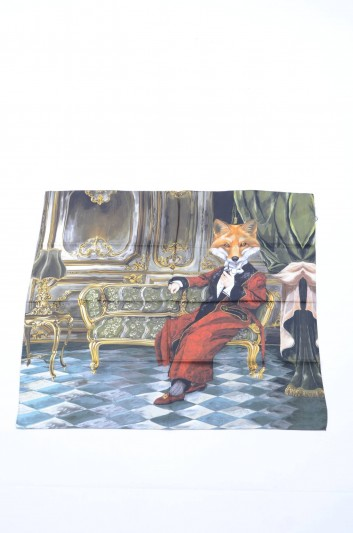 Dolce & Gabbana Women Fox Print Foulard - IF635W G9003