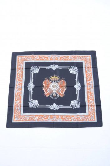 Dolce & Gabbana Women Shield Flags Print Foulard - IF635W G9003