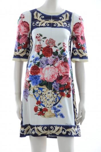 Dolce & Gabbana Women Flowers And Brocade Print Short Dress - F65D7T GDF85