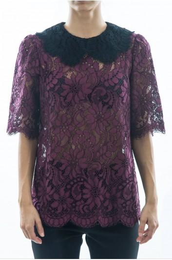 Dolce & Gabbana Women Lace Top - F7ZZ0T HLMA4