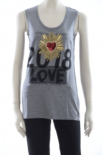 Dolce & Gabbana Camiseta Sin Mangas Mujer - F8H35Z G7MSA