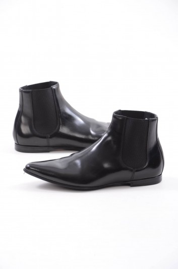 Dolce & Gabbana Men Leather Chelsea Boots - A60160 AC460