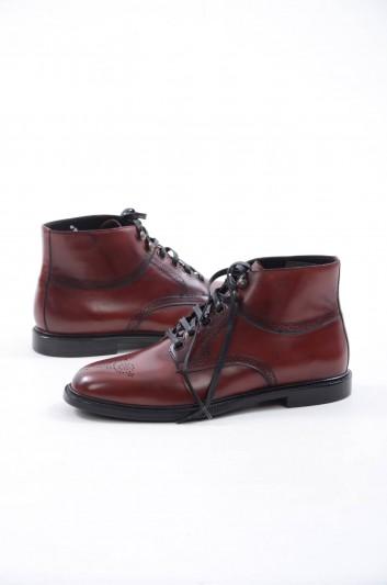 Dolce & Gabbana Men Leather Short Boots - A60142 AC329