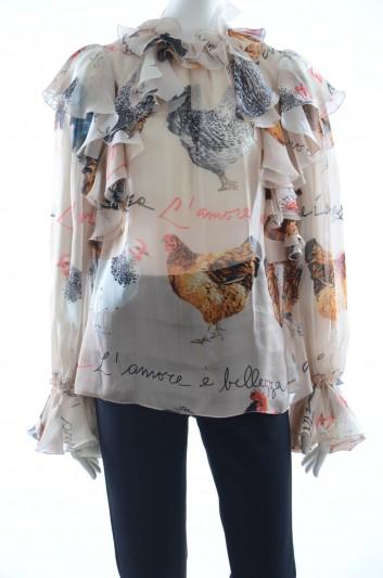Dolce & Gabbana Women Silk Top - F72K5T HS1WD
