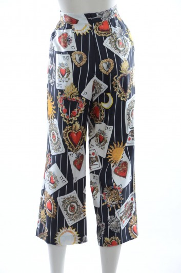 Dolce & Gabbana Pantalones Seda Mujer - FTA30T HS1UC
