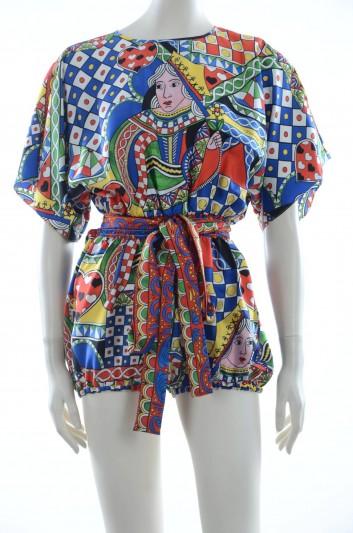 Dolce & Gabbana Women Silk Short Jumpsuit - F68T9T HH1SD