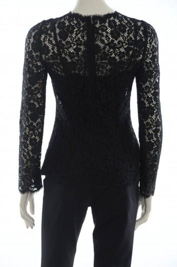 Dolce & Gabbana Women Black Lace Top - F7U53T FLMY1