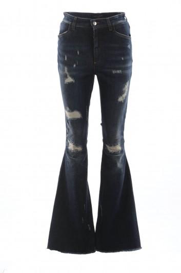 Dolce & Gabbana Women Denim Flare Trousers - FTAZ8Z G8Z56