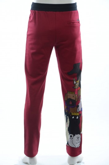 Dolce & Gabbana Men Printed Dogs Sport Trousers - GYB6AT FH7LX